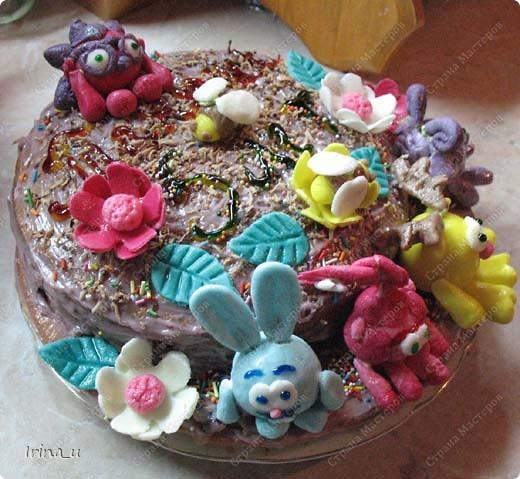 Дочка очень любит смешариков. Вот такой торт получился на день рождение. фото 2
