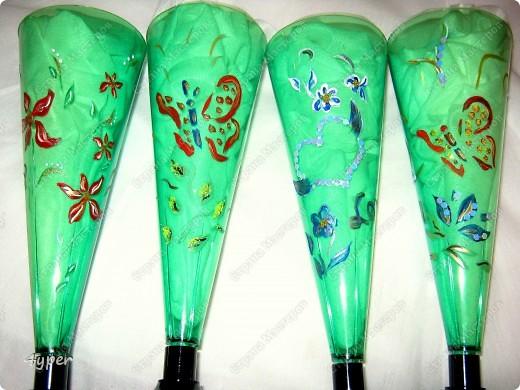 Праздничные бутылки (это на свою свадьбу я рисовала) фото 3