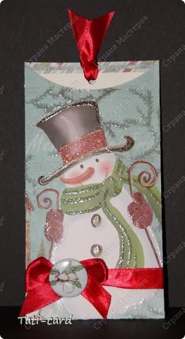 "Конверт-открытка ""Снеговик"" фото 1"