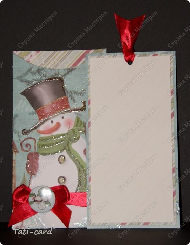 "Конверт-открытка ""Снеговик"" фото 2"