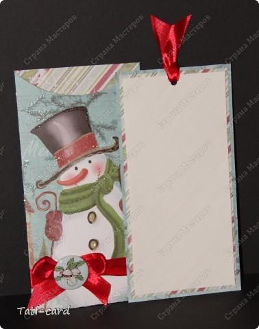 "Конверт-открытка ""Снеговик"" фото 3"