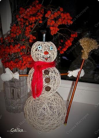 Близится Новый год и вот такой снеговик у меня получился :) фото 1