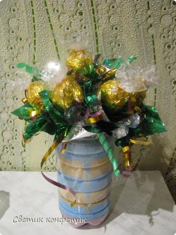 Букет из конфет мастерили вместе с дочкой для любимой учительницы. фото 1