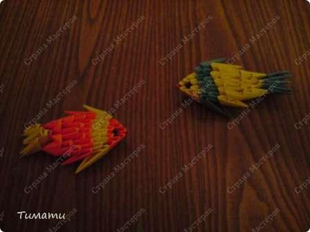 Техника: Оригами модульное Автор: Тимати Если вам есть, что мне написать, пишите Источник: Страна мастеров Рыбки...