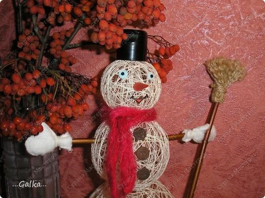 Близится Новый год и вот такой снеговик у меня получился :) фото 2