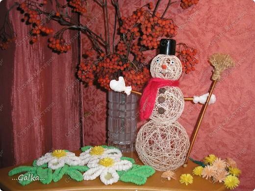 Близится Новый год и вот такой снеговик у меня получился :) фото 4