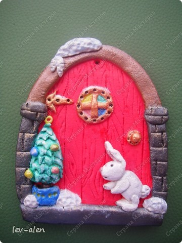Дверка новогодняя фото 1