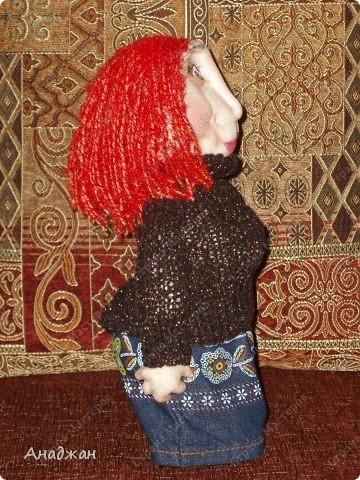 Кирочка. Эту куклу сделала другу нашей семьи, в подарок на ДР. Все кто ее знает сказали что очень похожа. Надеюсь что ей понравится наш подарок. фото 3