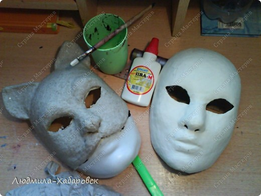 Вот такая кошачья  маска к празднованию НГ у меня получилась... фото 3