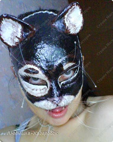 Вот такая кошачья  маска к празднованию НГ у меня получилась... фото 1