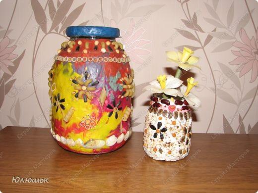 Копилка и вазочка.