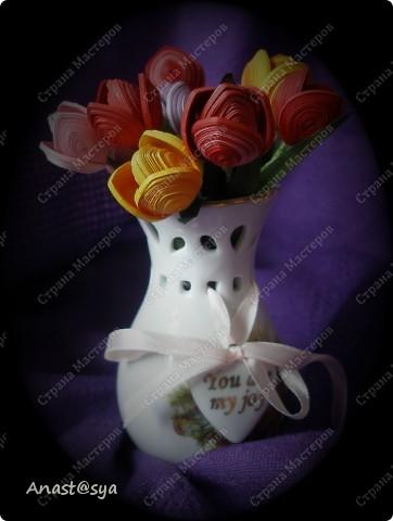 Тюльпаны (Огромное спасибо osonika за подробный МК!!!!!) фото 1