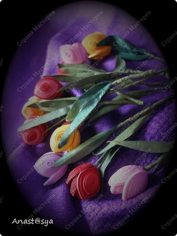 Тюльпаны (Огромное спасибо osonika за подробный МК!!!!!) фото 5
