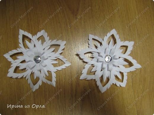 Благодарим от всей души Мастерицу Страны - Надежду Каликову (http://stranamasterov.ru/node/120608) за сногшибательную идею изготовления звездочек-снежинок на скорую руку!!!  фото 6