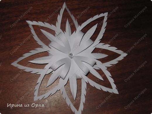 Благодарим от всей души Мастерицу Страны - Надежду Каликову (http://stranamasterov.ru/node/120608) за сногшибательную идею изготовления звездочек-снежинок на скорую руку!!!  фото 4