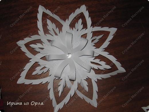 Благодарим от всей души Мастерицу Страны - Надежду Каликову (http://stranamasterov.ru/node/120608) за сногшибательную идею изготовления звездочек-снежинок на скорую руку!!!  фото 1
