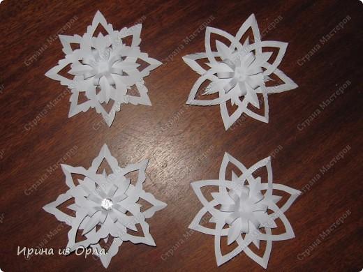 Благодарим от всей души Мастерицу Страны - Надежду Каликову (http://stranamasterov.ru/node/120608) за сногшибательную идею изготовления звездочек-снежинок на скорую руку!!!  фото 3