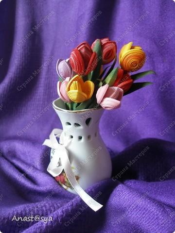 Тюльпаны (Огромное спасибо osonika за подробный МК!!!!!) фото 2