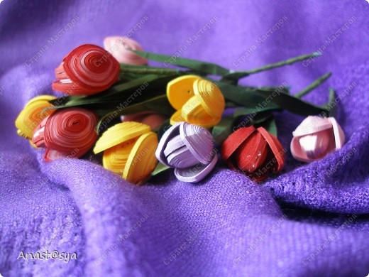 Тюльпаны (Огромное спасибо osonika за подробный МК!!!!!) фото 3