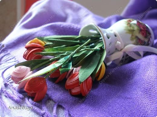 Тюльпаны (Огромное спасибо osonika за подробный МК!!!!!) фото 4