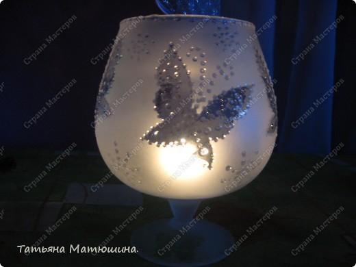 Подсвечник.Ледяные бабочки. фото 3