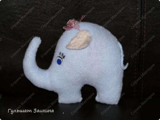 Слоник из флиса фото 2