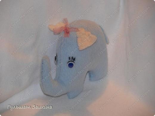 Слоник из флиса фото 1