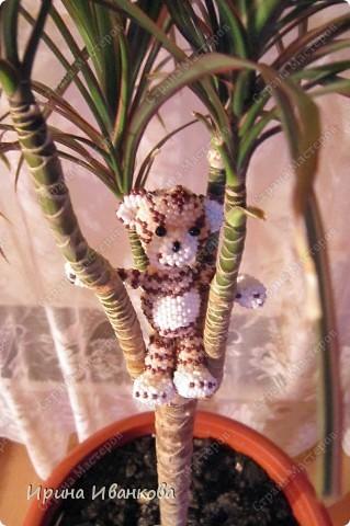 Ну вот и я добралась до игрушек))) Делала я тигренка по МК Ульяны Волховской http://www.artbiser.dp.ua/galery/tigr.html  Помучилась я изрядно, несколько раз распускала - нет опыта плетения по схемам. фото 3