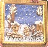Мы очень ждали снега. Вот и решили сделать такую картину. На улице зима. Идет белый пушистый снежок. Он укрыл шапками деревья, накрыл землю белым покрывалом. Снежок лежит на дорожках, на заборах и крышах домов. Одна ёлочка даже подпрыгнула от счастья такого зимнего.  фото 1