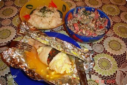 Хочу поделиться любимым рецептом. На Новый год я всегда готовлю фаршированные кальмары. фото 7