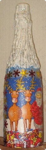 Новогодняя бутылочка :) фото 3