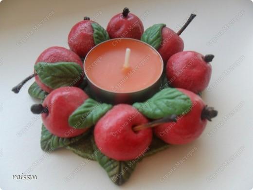 "Подсвечник ""Яблочки"" фото 1"