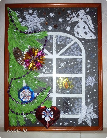 Вот такое рождественское, сказочное окошечко получилось.  фото 1