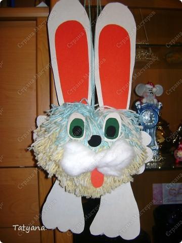 Игрушка на главную городскую ёлку. Символ наступающего года Кролика.