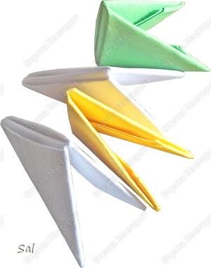 Мастер-класс Поделка изделие Оригами китайское модульное Ваза Радужный Ёж Бумага фото 3