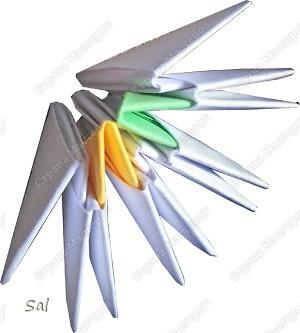 Мастер-класс Поделка изделие Оригами китайское модульное Ваза Радужный Ёж Бумага фото 4