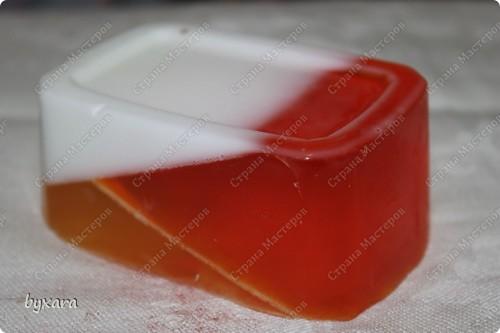 Геометрическое мылко из основы (белой, прозрачной и органической) фото 1