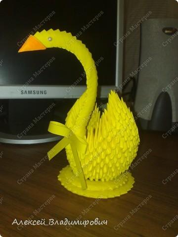 Вот такой вот у меня получился лебедь!!!