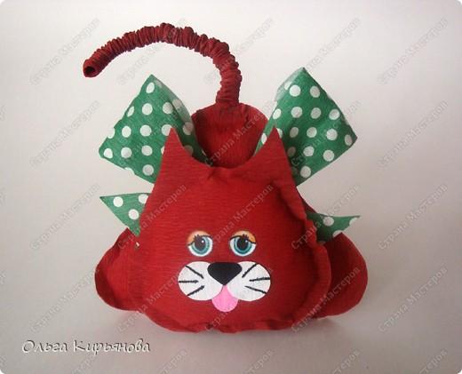 Вот такого котенка я предложила нашим третьеклассникам сделать к Новому году.  фото 1