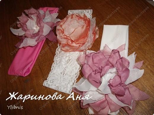 Цветы из ткани2 фото 1