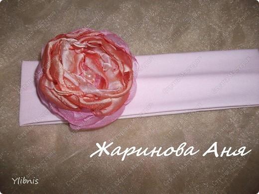 Цветы из ткани2 фото 6