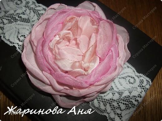 Цветы из ткани2 фото 3