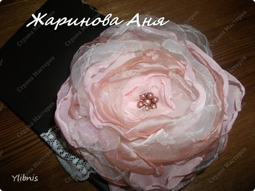Цветы из ткани2 фото 5