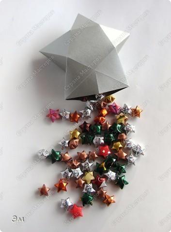 приветствую всех, ко зашёл в гости  мы опять немного помастерили) как делаются такие звёздочки, можно посмотреть здесь, http://crimsonxreign.deviantart.com/art/paper-star-tutorial-108431867    фото 3