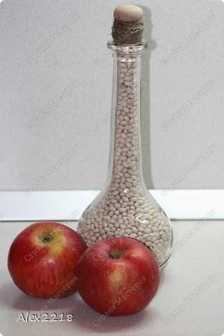 Декоративные бутылки с фасолью фото 2