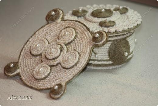 Панно из бельевой веревки и шпагата фото 2