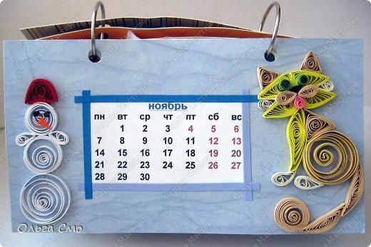 Уже давно задумала сделать календарь - и вот моя мечта осуществилась! Первая страничка - Январь. фото 11