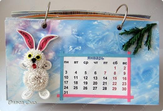 Уже давно задумала сделать календарь - и вот моя мечта осуществилась! Первая страничка - Январь. фото 1