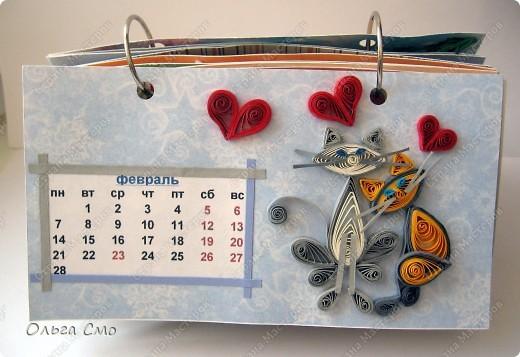 Уже давно задумала сделать календарь - и вот моя мечта осуществилась! Первая страничка - Январь. фото 2