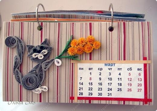 Уже давно задумала сделать календарь - и вот моя мечта осуществилась! Первая страничка - Январь. фото 3